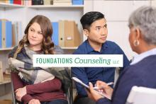 Couple in counseling looking away from each other